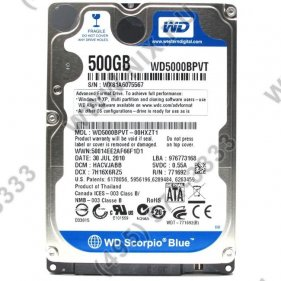 ТЕСТ:HDD 500 Gb SATA-II 300